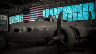 shallow focus photography of grey airplane