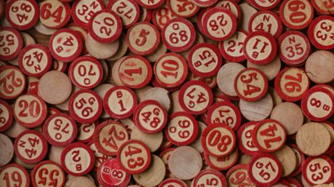 red and white round plastic
